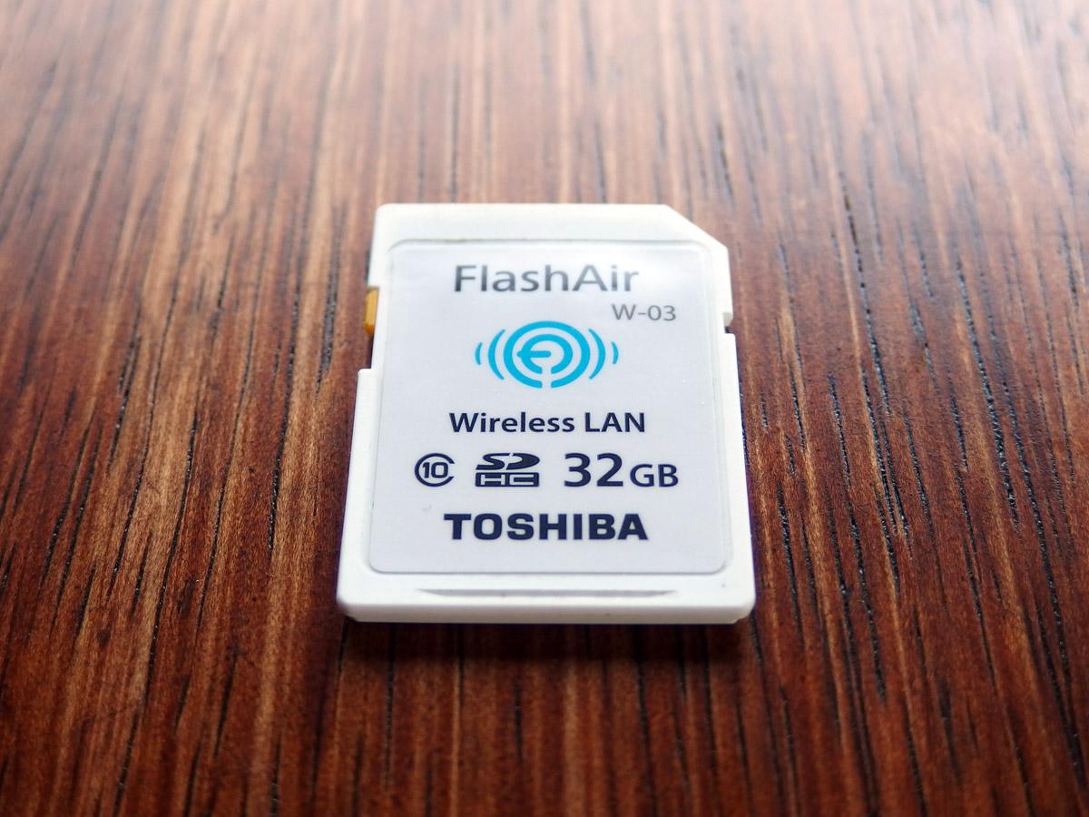 flashairのSDカード