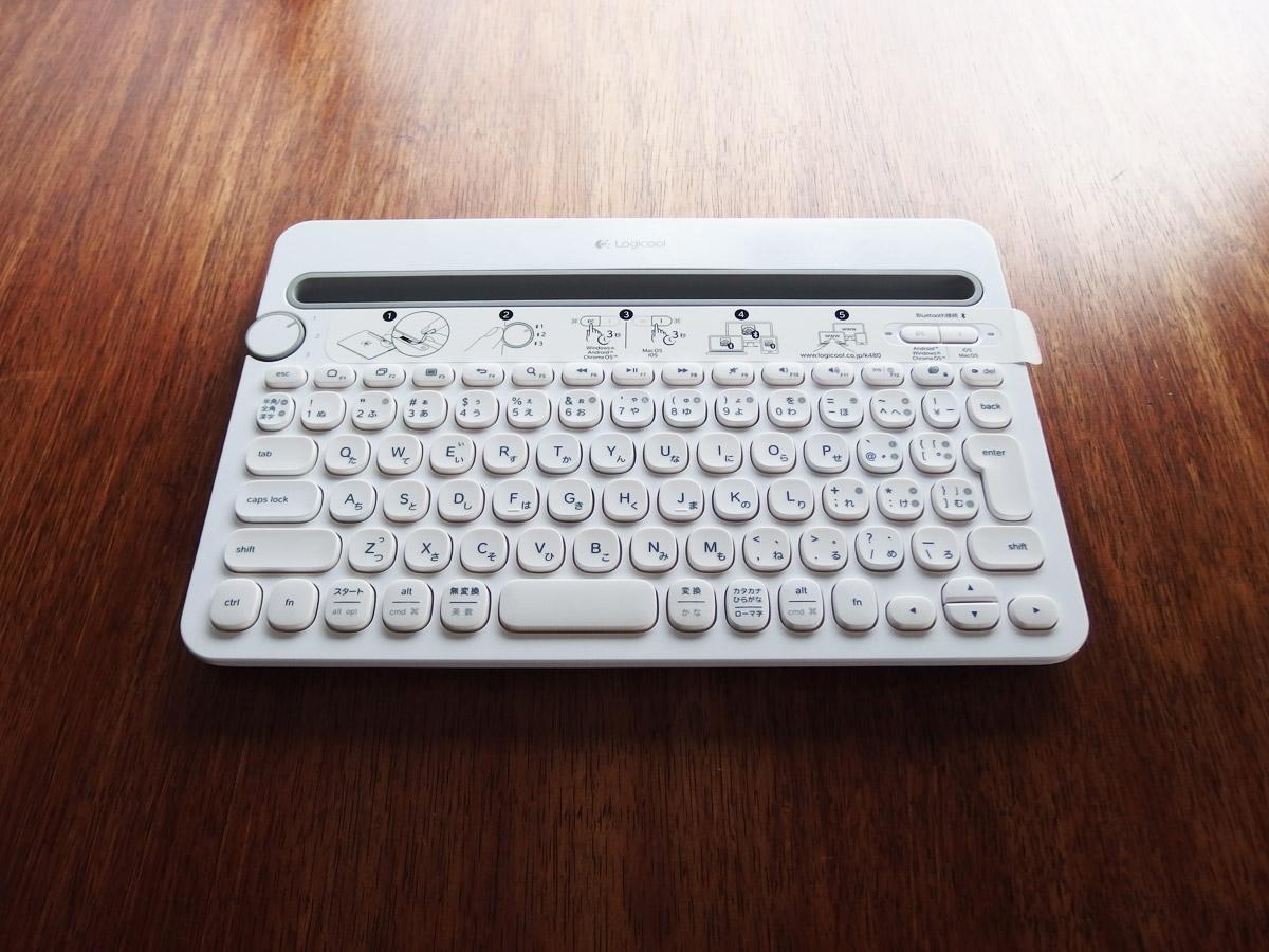 k480 キーボード全体像 斜めから