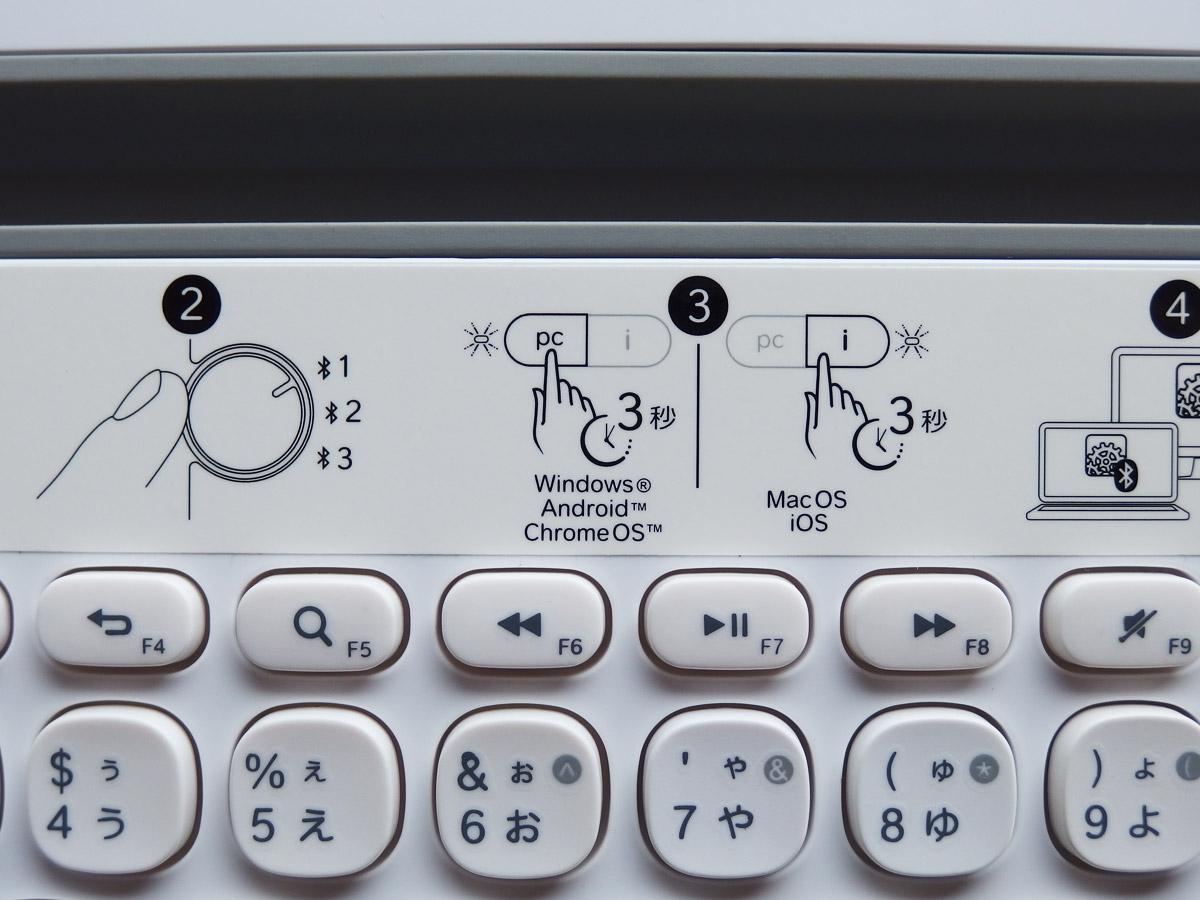 k480 キーボード 説明