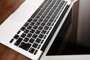 macbook air 11インチ斜め上から